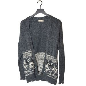 Hollister Slouchy Fair Isle Button Up Cardigan M/L